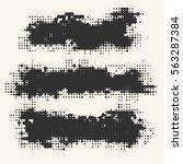 black and white grunge effect... | Shutterstock .eps vector #563287384