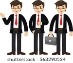 set illustration of business... | Shutterstock .eps vector #563290534