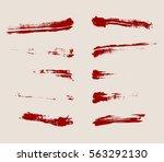 vector set of grunge artistic...   Shutterstock .eps vector #563292130