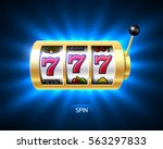 slot machine with luck word ...