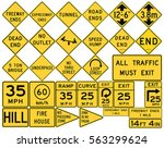 road signs in the united states.... | Shutterstock .eps vector #563299624