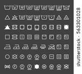 laundry symbols collection... | Shutterstock .eps vector #563301028