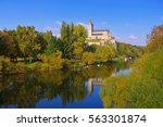 st. lubentius basilica in... | Shutterstock . vector #563301874