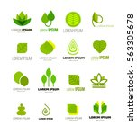 leaf logo collection isolated... | Shutterstock .eps vector #563305678