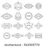 hipster set of geometric... | Shutterstock .eps vector #563305774