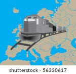 map of europe   Shutterstock .eps vector #56330617