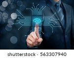 artificial intelligence  ai  ... | Shutterstock . vector #563307940