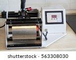 horizontal thermal press for... | Shutterstock . vector #563308030