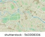 vector city map of berlin with... | Shutterstock .eps vector #563308336