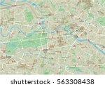 vector city map of berlin with... | Shutterstock .eps vector #563308438