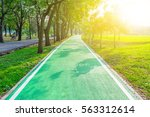 road pathway in the park for...   Shutterstock . vector #563312614
