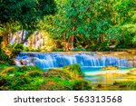 tansawan waterfall in doi phu... | Shutterstock . vector #563313568