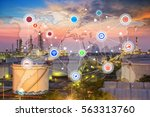 smart refinery factory and... | Shutterstock . vector #563313760