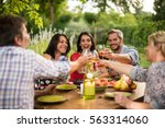 portrait of a group of friends... | Shutterstock . vector #563314060