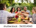portrait of a group of friends... | Shutterstock . vector #563314060