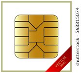 sim card chip icon | Shutterstock .eps vector #563315074