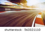 motion blurred racetrack sunset ... | Shutterstock . vector #563321110