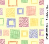 seamless vector geometrical... | Shutterstock .eps vector #563322463