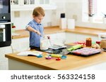 adorable child below the age of ... | Shutterstock . vector #563324158