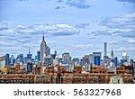 manhattan skyline. panoramic... | Shutterstock . vector #563327968