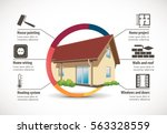 house construction   home... | Shutterstock .eps vector #563328559