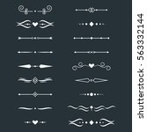 collection of vector dividers... | Shutterstock .eps vector #563332144