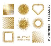isolated halftone shapes made...   Shutterstock .eps vector #563332180