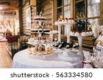 candy bar in the restaurant | Shutterstock . vector #563334580