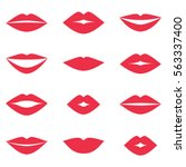 different women's lips vector... | Shutterstock .eps vector #563337400