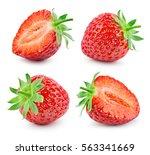 strawberry. fresh ripe berry... | Shutterstock . vector #563341669