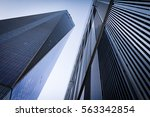 geometric shapes of tall... | Shutterstock . vector #563342854
