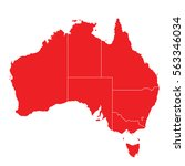 red map of australia | Shutterstock .eps vector #563346034