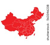 Red Map Of China