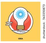 idea vector icon | Shutterstock .eps vector #563350873