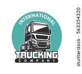 truck car cargo freight logo... | Shutterstock .eps vector #563354320