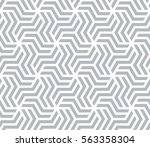 abstract geometric pattern with ... | Shutterstock .eps vector #563358304
