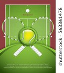 a realistic textured tennis... | Shutterstock .eps vector #563361478