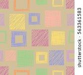 seamless vector geometrical... | Shutterstock .eps vector #563361583