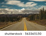 rv on holiday driving beautiful ... | Shutterstock . vector #563365150