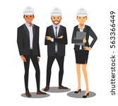 engineer management team white... | Shutterstock .eps vector #563366449