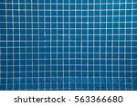 Geometric Pattern. Many Blue...