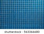 Geometric Pattern. Many Blue...