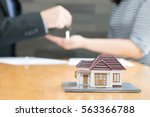 banks approve loans to buy... | Shutterstock . vector #563366788