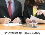 banks approve loans to buy... | Shutterstock . vector #563366809