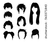 collection hairstyle for man... | Shutterstock .eps vector #563371840