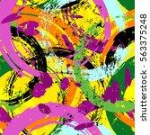 seamless background pattern ... | Shutterstock .eps vector #563375248