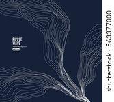 wave background. ripple grid.... | Shutterstock .eps vector #563377000