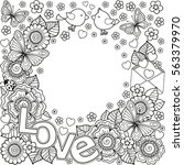 i love you. vector abstract... | Shutterstock .eps vector #563379970