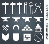 blacksmith metalsmith tools... | Shutterstock .eps vector #563381278