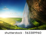 Seljalandfoss Waterfall In...